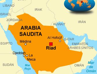 Mapa Arabia Saudita