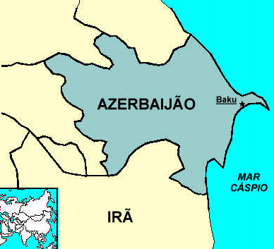 Mapa Azerbaijão