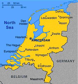 Mapa da Belgica