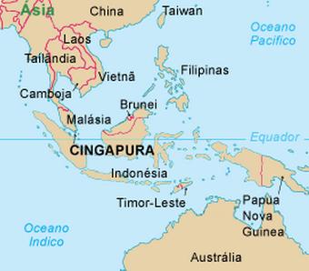 Mapa Malásia