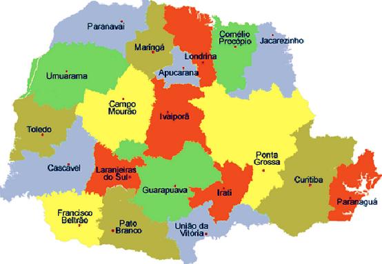 Mapa Paraná