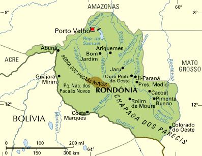 Mapa da Rondônia
