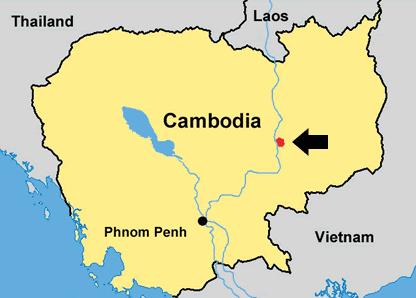 Mapa de Camboja