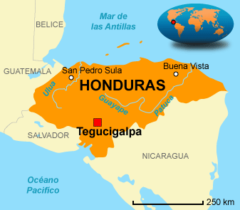 Mapa de Honduras