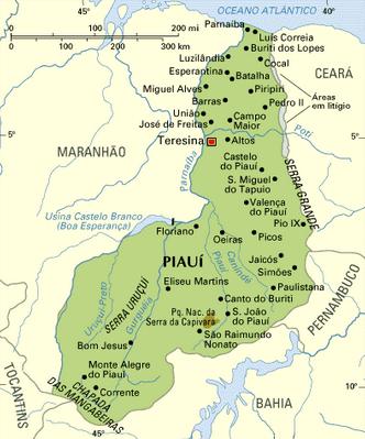 Mapa de Piauí