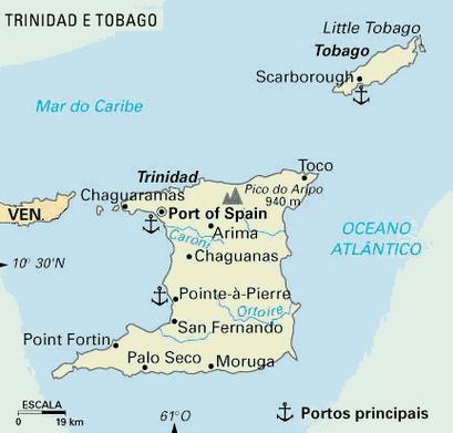 Mapa de Trinidad e Tabago