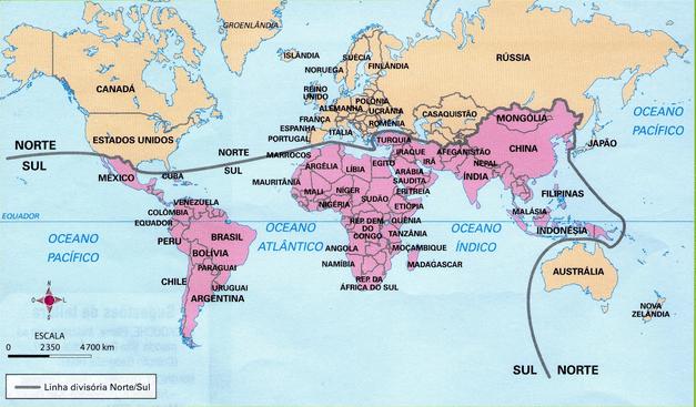 Mapa de Países Desenvolvidos