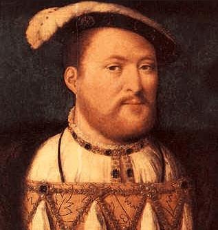 Retrato em óleo de Henrique VIII, o incentivador da reforma anglicana.
