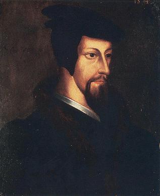 Retrato de João Calvino, líder da reforma calvinista.