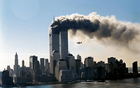 Ataque às Torres Gêmeas em Nova Iorque.