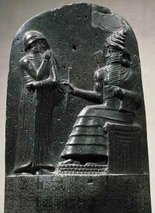 Pedra onde está escrito o código de Hamurabi