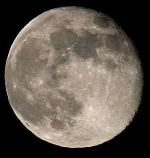 Foto ampliada da lua
