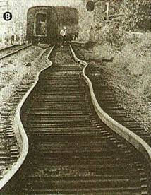 Efeito da dilatação em trilhos de trem