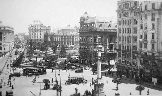 Foto da Praça do Patriarca de antigamente