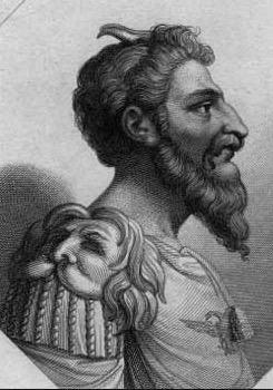 Átilo, líder dos hunos, povos bárbaros.