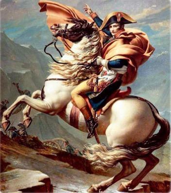 Pintura de Napoleão sobre um cavalo