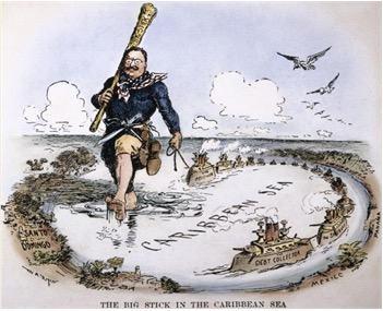 Figura representativa da política do Big Stick na América