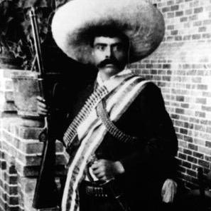 Emiliano Zapata, um dos líderes da Revolução Mexicana
