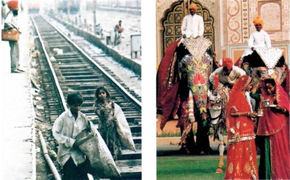 Diferença entre as castas na Índia.