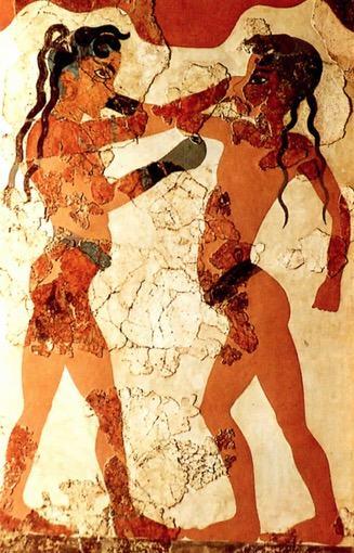 Afresco da civilização minoica