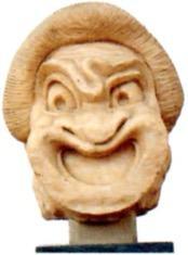 Máscara de comédia no teatro grego