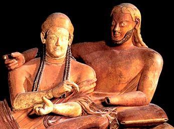 Arte etrusca para os mortos