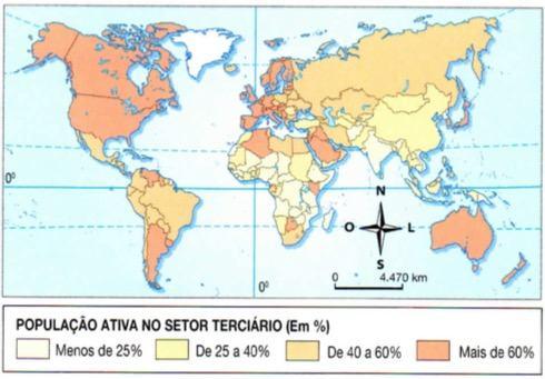 População ativa do setor terciário da economia