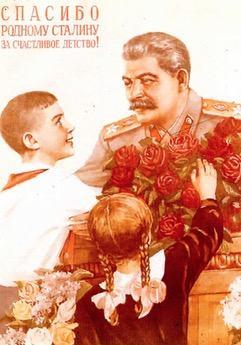Cartaz de Propaganda stalinista