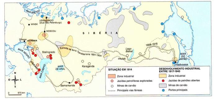Mapa Desenvolvimento industrial