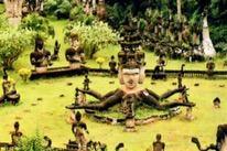 Parque de Buda em Vientiane, Laos