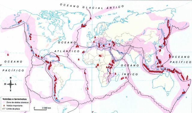 Vulcões e terremotos