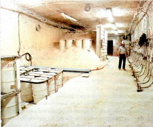 Lixo nuclear em bunker no EUA.
