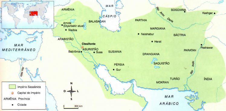 Mapa do Império Sassânida
