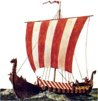 Barco utilizado pelos Vikings