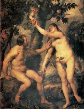Quadro Adão e Eva