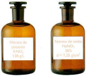Nitrato de potássio e nitrato de sódio