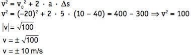 Utilização da equação de Torricelli