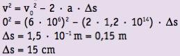 Exercício resolvido pela equação de Torricelli