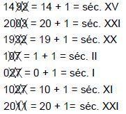 Cálculo do tempo histórico