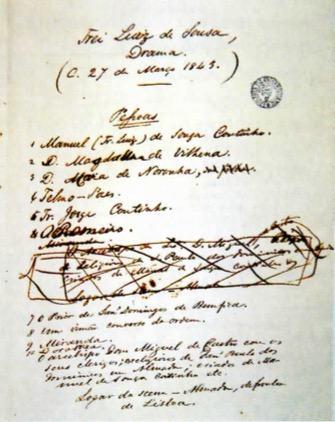 Primeiro manuscrito de Frei Luís de Souza