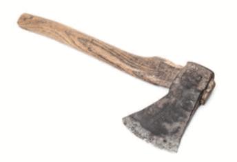 Foto de um machado.