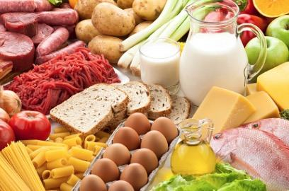 Diversos alimentos que contém proteína