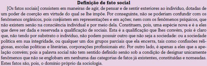 Definição de fato social