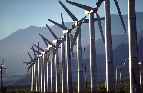 Energia eólica como solução da poluição do ar.