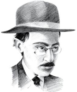 Caricatura de Fernando Pessoa.