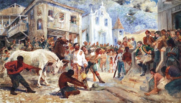 Cenas da Revolta de Vila Rica.