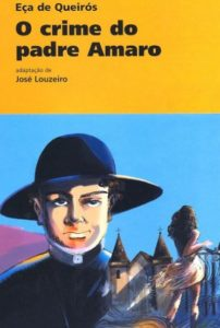 Capa do livro O Crime do Padre Amaro.