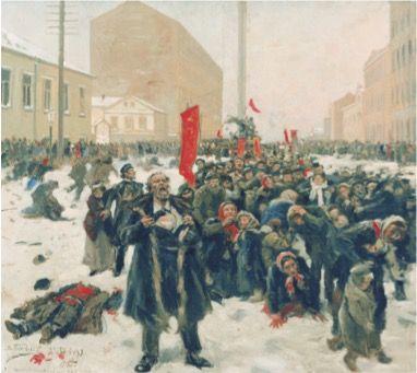 Quadro retratando a Revolução de 1905.