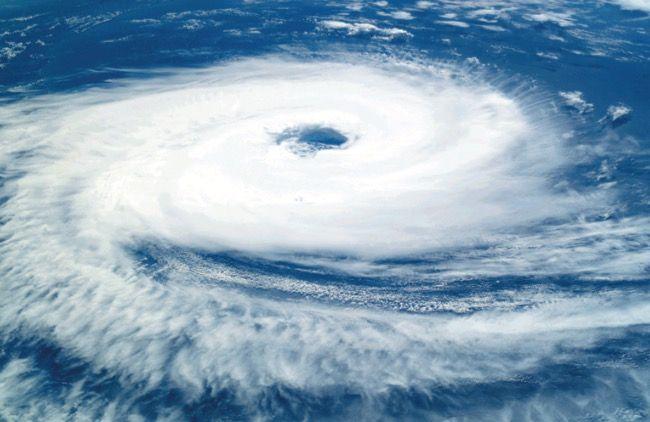 Formação de um ciclone.