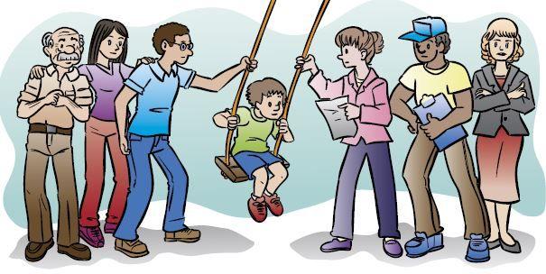 Os agentes no processo de socialização de uma criança.